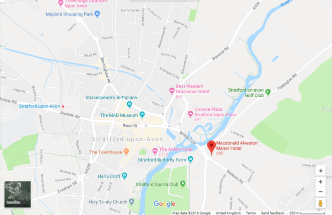 map of stratford